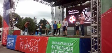 Фан-зона в г. Калининград в рамках городской футбольной недели.