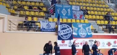 Болельщики «Динамо» поддержали «Динамо-Курск» в Вологде